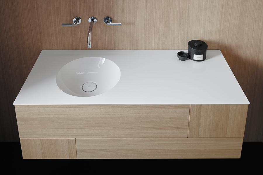 Waschtischtisch Coco von burgbad, Frontfarbe: Eiche Natur