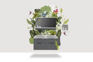 Grafik Kollektion Eqio von burgbad Auszeichnung Blauer Engel