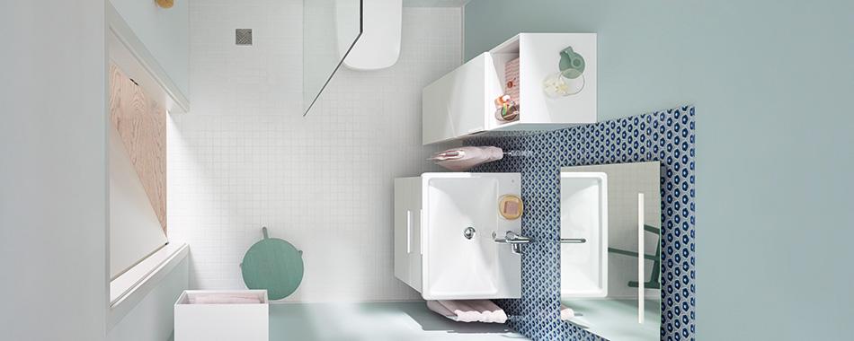 Badmöbel und Badezimmer-Einrichtung für kleine Bäder und ...