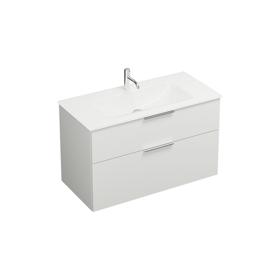 Plan de toilette en verre avec meuble sous-vasque SEYX102 ...