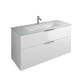 Plan de toilette en verre avec meuble sous-vasque SEYX122 ...