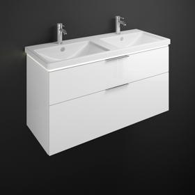 Plan De Toilette En Céramique Avec Meuble Sous Vasque Avec éclairage