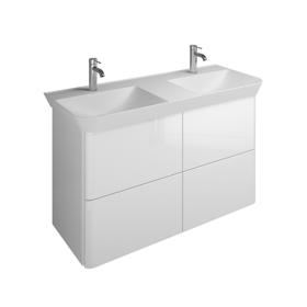 Plan De Toilette En Pierre De Synthèse Avec Meuble Sous Vasque