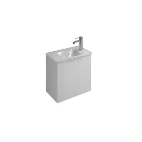 Plan de toilette en verre avec meuble sous-vasque SFPH052 ...