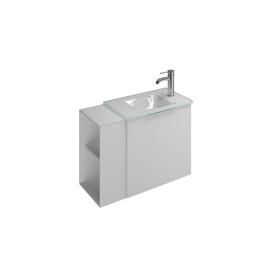 Plan De Toilette En Verre Avec Meuble Sous Vasque Sfph071 Meubles De