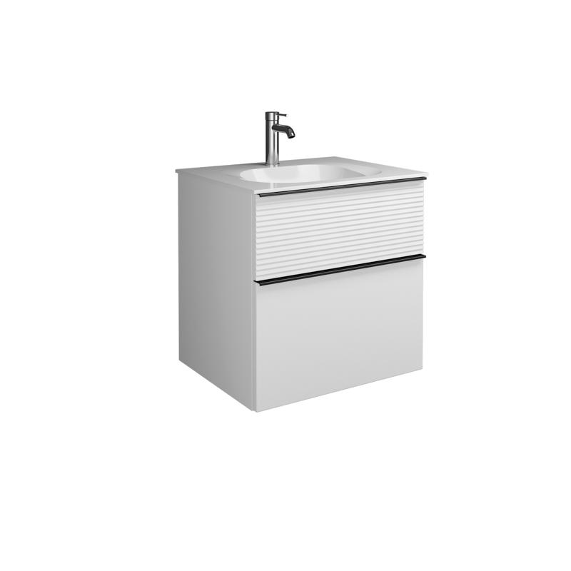 Plan De Toilette Salle De Bain plan de toilette en pierre de synth�se avec meuble sous