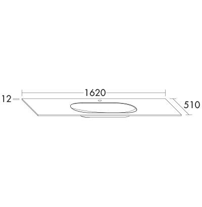 plan de toilette sys g1 avec dessous laqu standard gway162 meubles de salle de bain srie echo burgbad - Hauteur Standard Vasque Salle De Bain