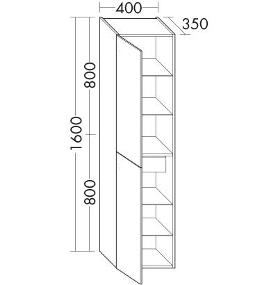 hochschrank hs482e badm bel serie sinea burgbad. Black Bedroom Furniture Sets. Home Design Ideas
