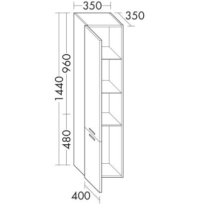 hochschrank hscf040 badm bel serie essento burgbad. Black Bedroom Furniture Sets. Home Design Ideas
