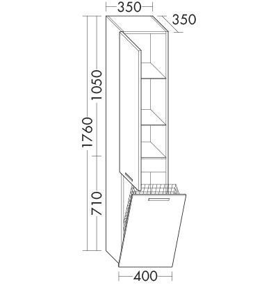 colonne hscm040 meubles de salle de bain s rie essento burgbad. Black Bedroom Furniture Sets. Home Design Ideas