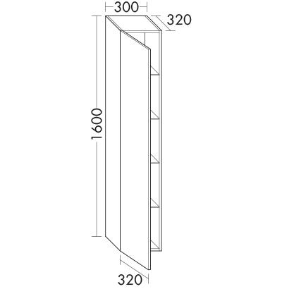 hochschrank hseq032 badm bel serie orell burgbad. Black Bedroom Furniture Sets. Home Design Ideas