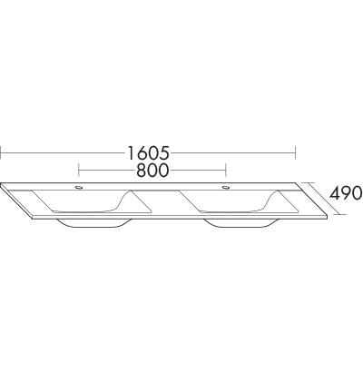 afficher le dessin au trait - Hauteur Standard Vasque Salle De Bain