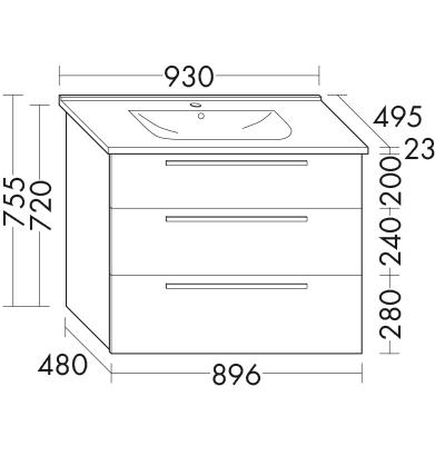 Plan De Toilette En Ceramique Essento 1 0 Avec Meuble Sous