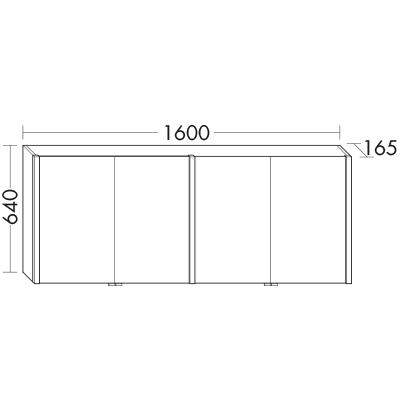 spiegelschrank mit vertikaler led beleuchtung und waschtischbeleuchtung spfw160 badm bel serie. Black Bedroom Furniture Sets. Home Design Ideas