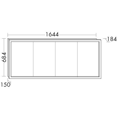 Spiegelschrank mit umlaufender LED-Beleuchtung SPIA160 Badmöbel ...