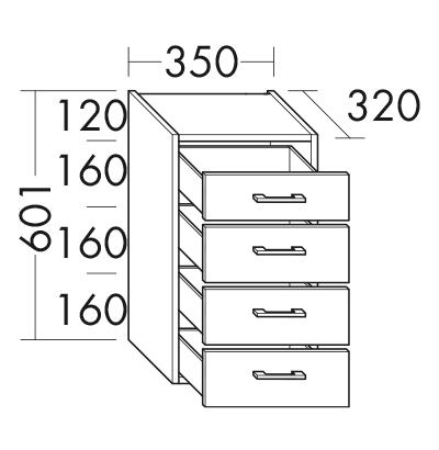 unterschrank u3535 badm bel serie sys30 echo burgbad. Black Bedroom Furniture Sets. Home Design Ideas