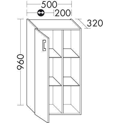 halbhoher schrank uh5025 badm bel serie sys30 echo burgbad. Black Bedroom Furniture Sets. Home Design Ideas