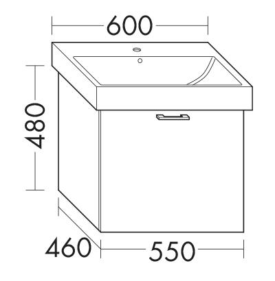 waschtischunterschrank zu keramag icon 124060 wugu055 badm bel serie diago burgbad. Black Bedroom Furniture Sets. Home Design Ideas