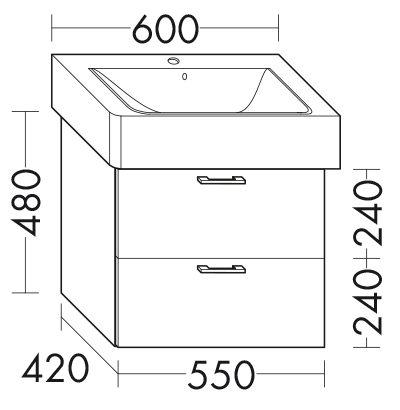 waschtischunterschrank zu ideal standard connect cube. Black Bedroom Furniture Sets. Home Design Ideas