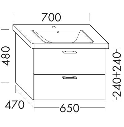 waschtischunterschrank zu ideal standard connect e8128xx e8168xx wumk065 badm bel serie. Black Bedroom Furniture Sets. Home Design Ideas