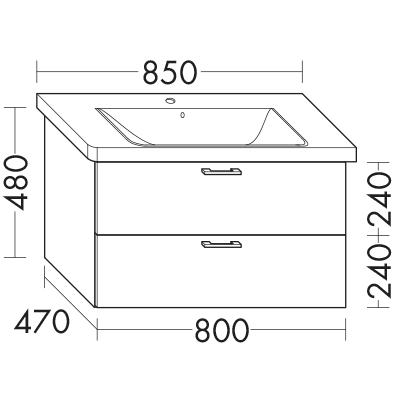 waschtischunterschrank zu ideal standard connect e8127xx e8167xx wumk080 badm bel serie. Black Bedroom Furniture Sets. Home Design Ideas