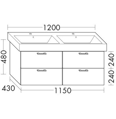 waschtischunterschrank zu ideal standard strada k0791xx wuml115 badm bel serie sys30 echo. Black Bedroom Furniture Sets. Home Design Ideas