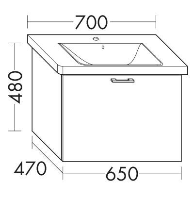 waschtischunterschrank zu ideal standard connect e8128xx e8168xx wupq065 badm bel serie. Black Bedroom Furniture Sets. Home Design Ideas