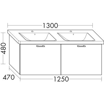 waschtischunterschrank zu ideal standard connect e8136xx. Black Bedroom Furniture Sets. Home Design Ideas