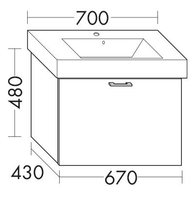 waschtischunterschrank zu ideal standard strada k0787xx wupu067 badm bel serie sys30 diago. Black Bedroom Furniture Sets. Home Design Ideas