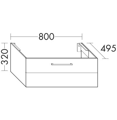 waschtischunterschrank f r 1 aufsatzbecken wuta080 badm bel serie crono burgbad. Black Bedroom Furniture Sets. Home Design Ideas