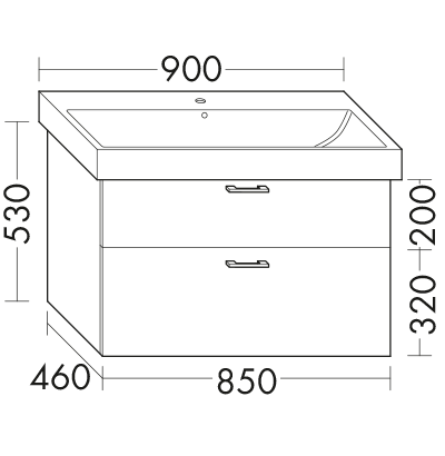 waschtischunterschrank zu keramag icon 124090 93 wuue085 badm bel serie sys30 echo burgbad. Black Bedroom Furniture Sets. Home Design Ideas