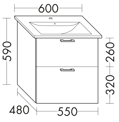 Wastafelonderkast Voor Villeroy Boch Venticello 412460 412461