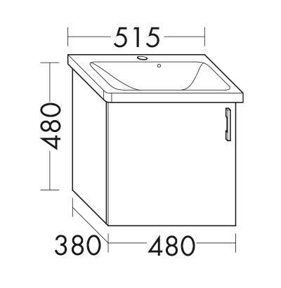 waschtischunterschrank zu ideal standard tonic ii k0868xx wvcb048 badm bel serie sys30 aqua. Black Bedroom Furniture Sets. Home Design Ideas