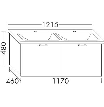 waschtischunterschrank zu ideal standard tonic ii k0873xx k0874xx wvcc117 badm bel serie. Black Bedroom Furniture Sets. Home Design Ideas