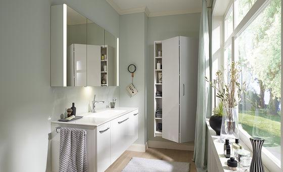 Badezimmermöbel weiß grau  Badmöbel - Serie Echo | Burgbad