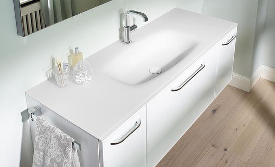 großes waschbecken mit schubladen weiß