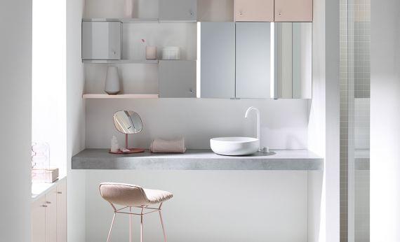 Aquna badmöbel für die waschmaschine mit waschbecken arredaclick